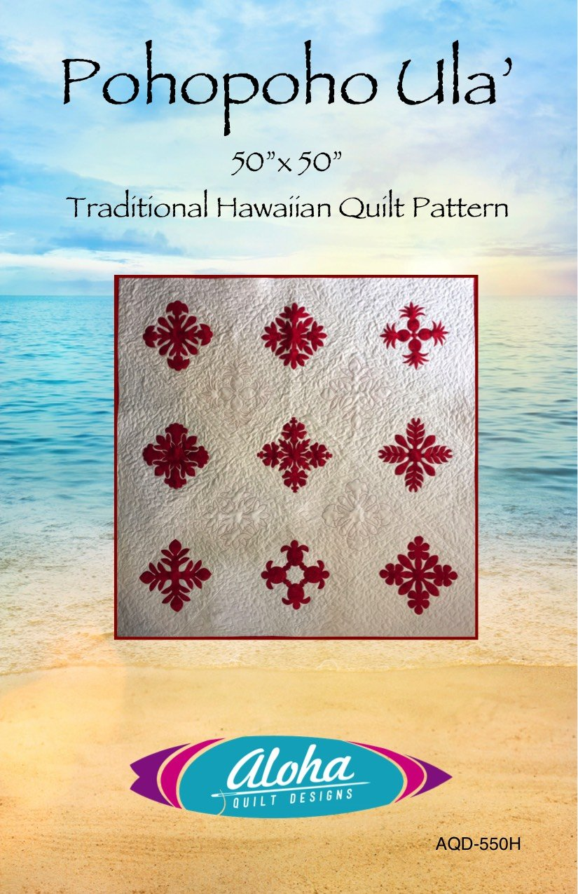 De Aloha Quilt.Pohopoho Ula Red Patchwork Pattern 782752791008