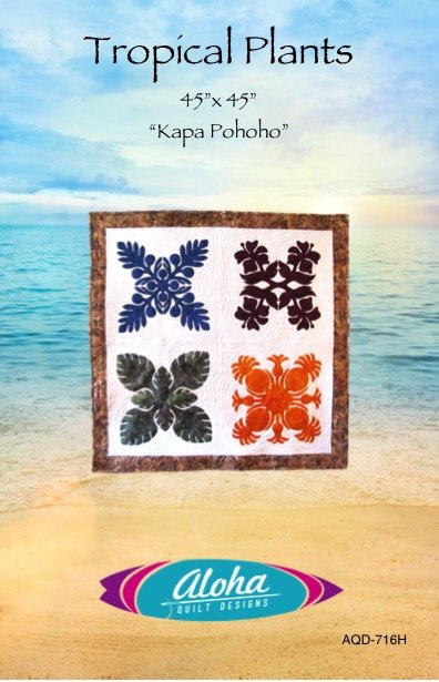 Tropical Plants Hawaiian Applique Sampler - digital