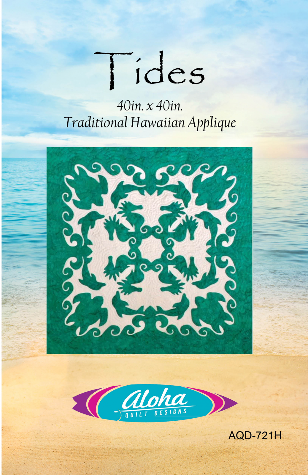 Tides Hawaiian Applique Quilt Pattern
