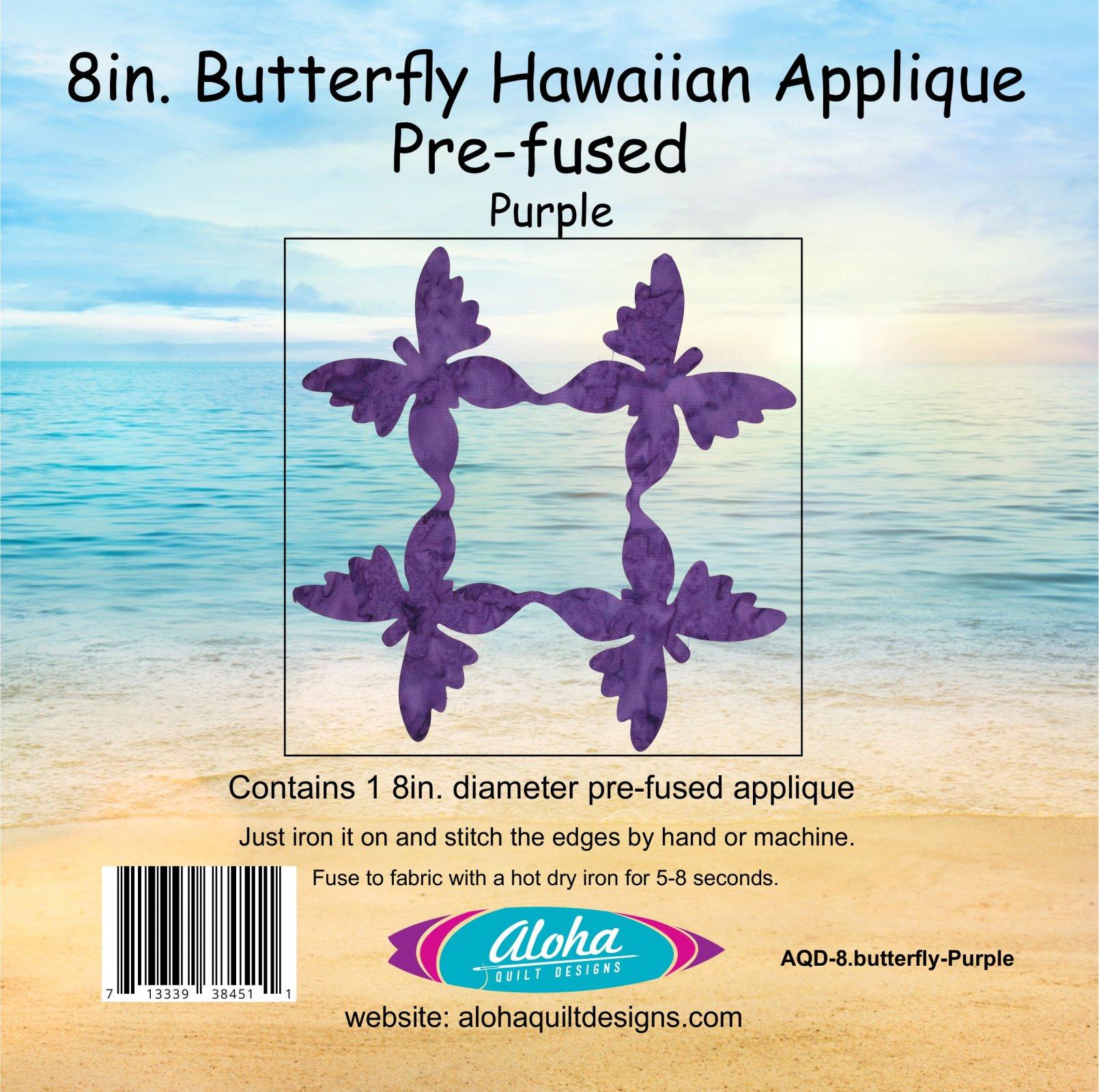 8in. Butterfly Hawaiian Fusible Applique