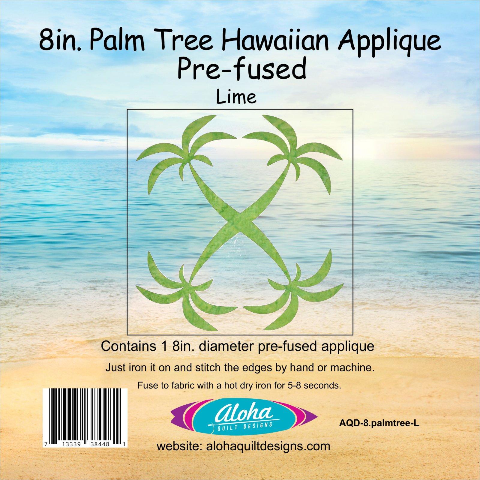 8in. Palmtree Hawaiian Fusible Applique