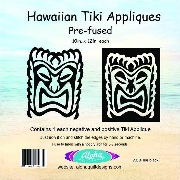 Hawaiian Tiki Applique