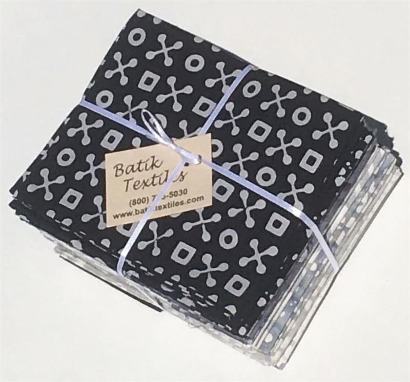 Shades of Grey Batik Fat Quarter Bundle
