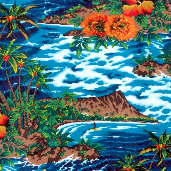 Tropical Island Blue