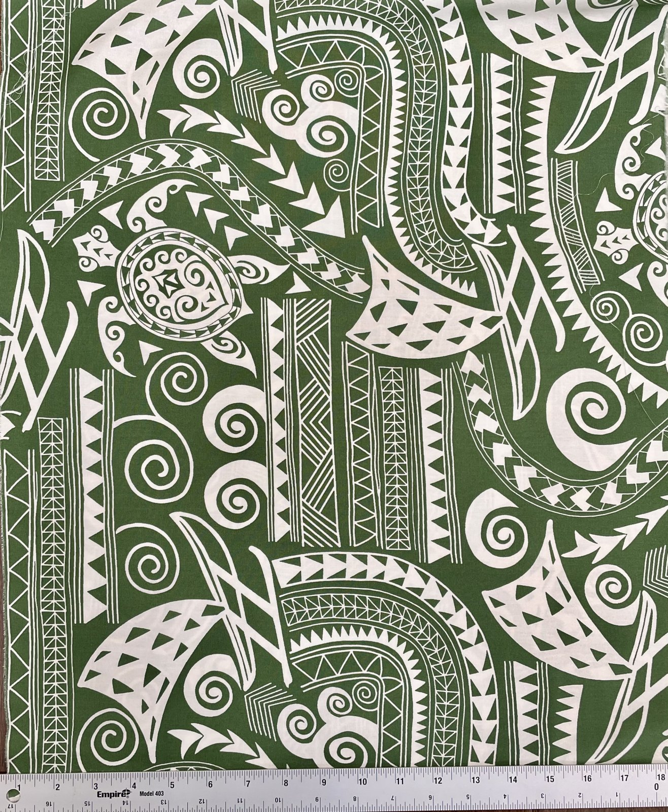 Turtle tribal print forest green