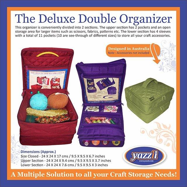 The Delux Double Organiser - Aqua