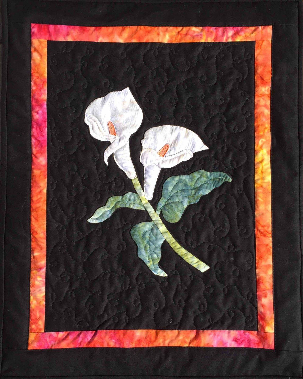 Calla Lily Applique Quilt Pattern 782752790612