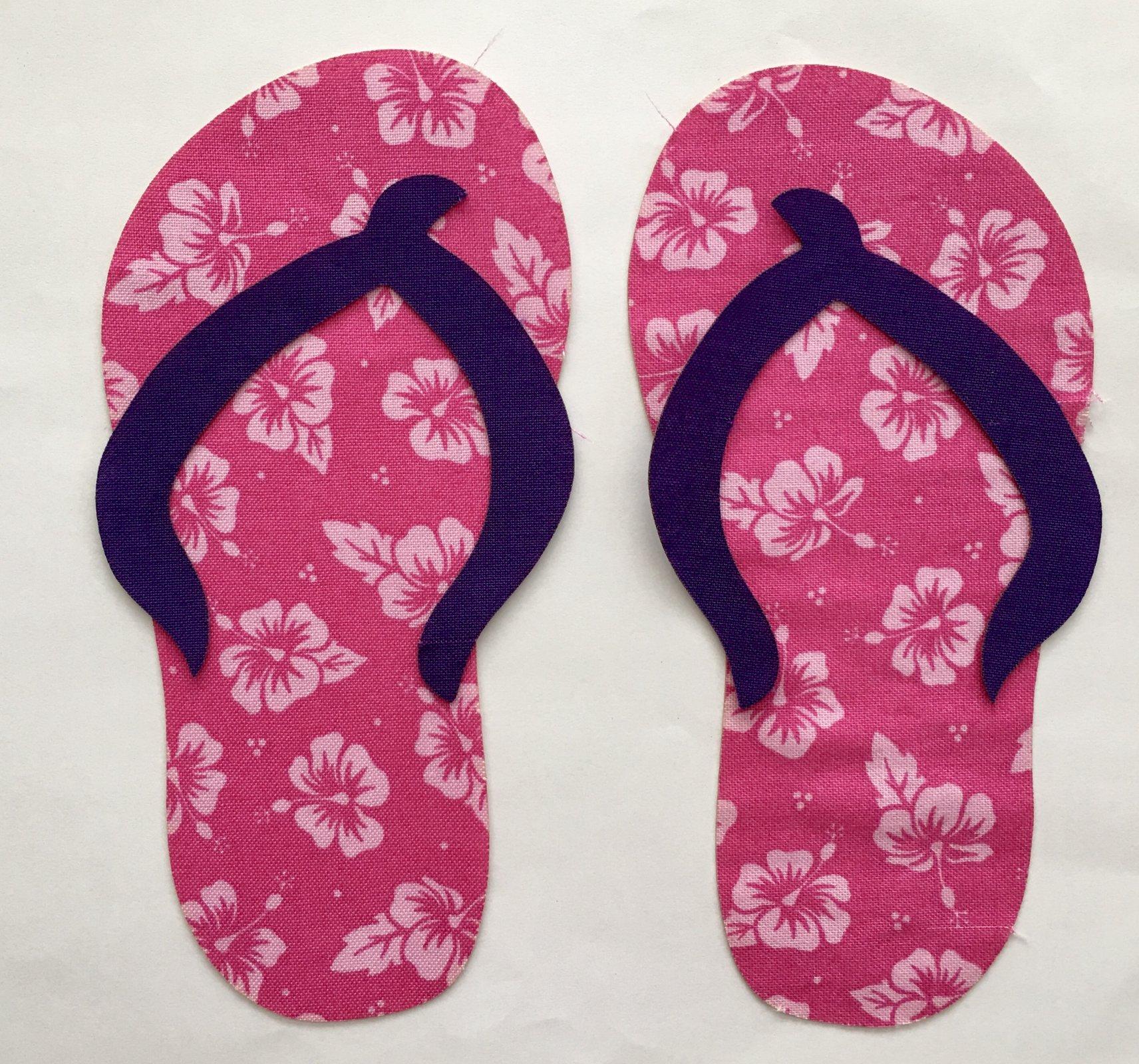 4in. Flip Flop Appliques 4 pairs