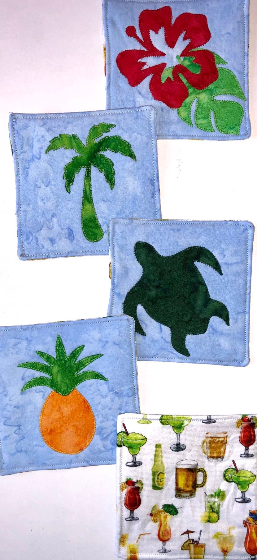 Tropical Coaster Fusible Applique Kit