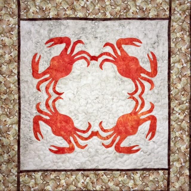 Mr. Crabs Hawaiian Quilt-Laser cut