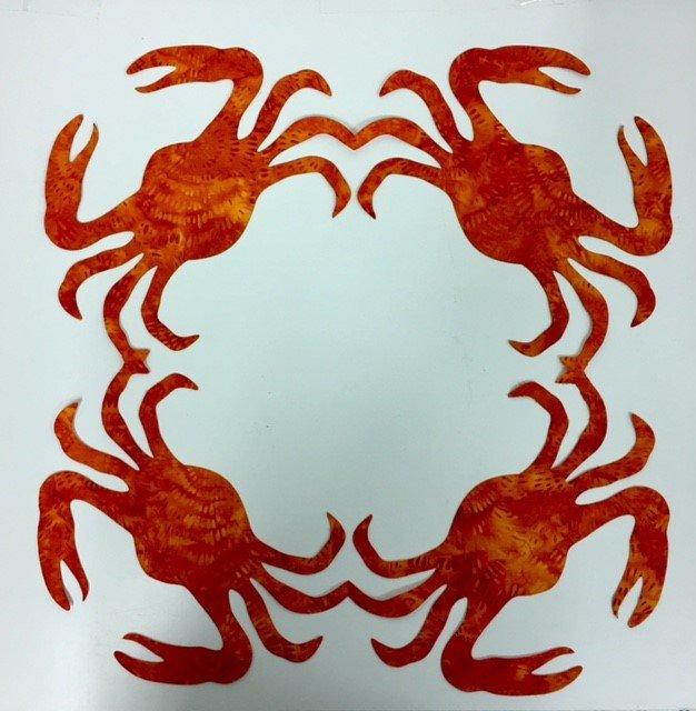 16in. Crabs Hawaiian Applique