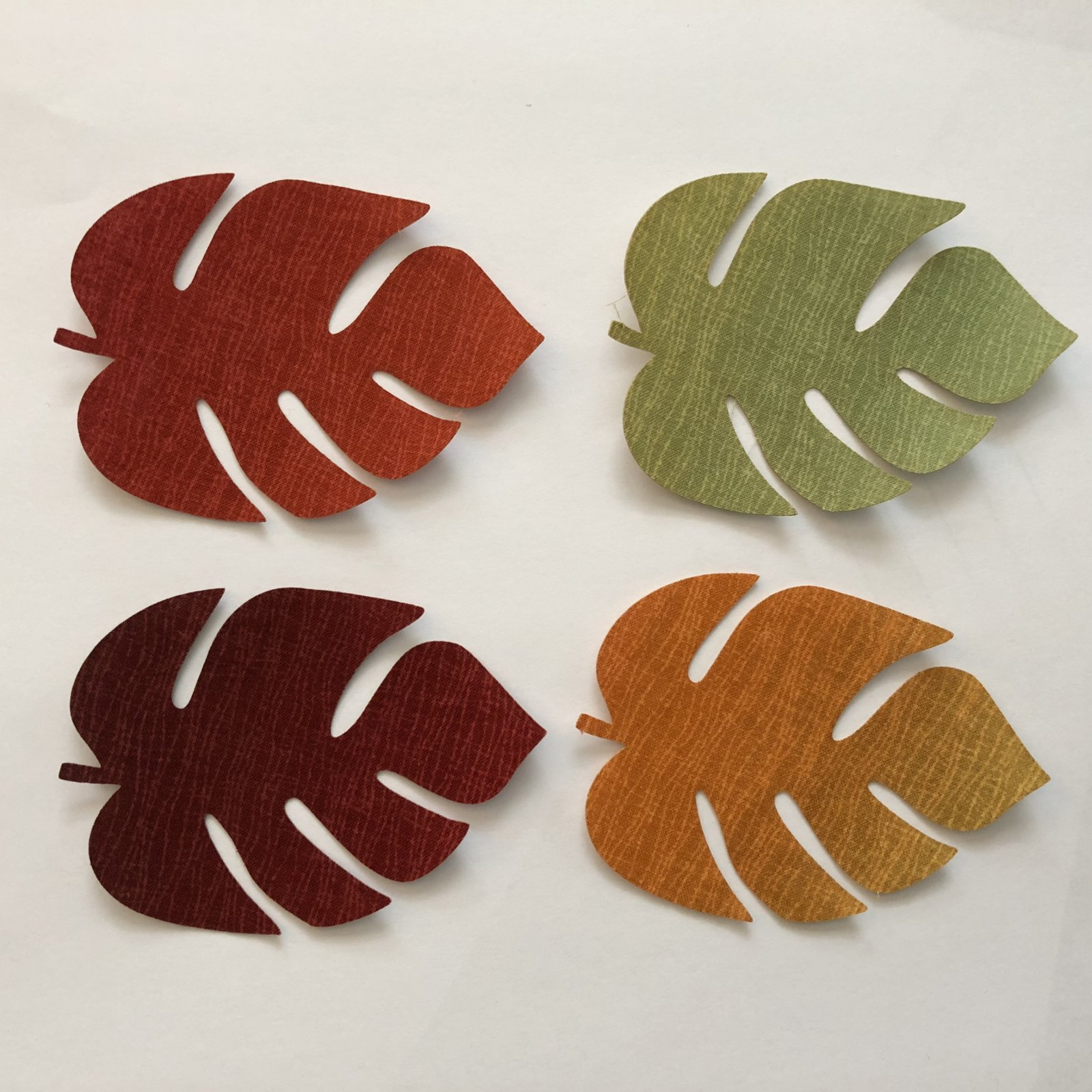 3in. Fall fusible applique leaves