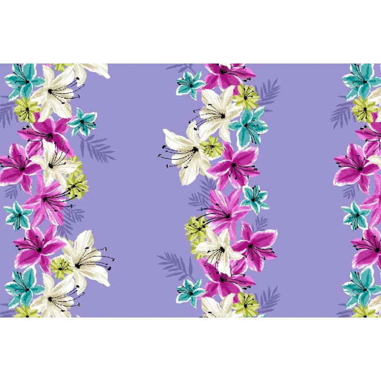 Lei Down Floral in iris