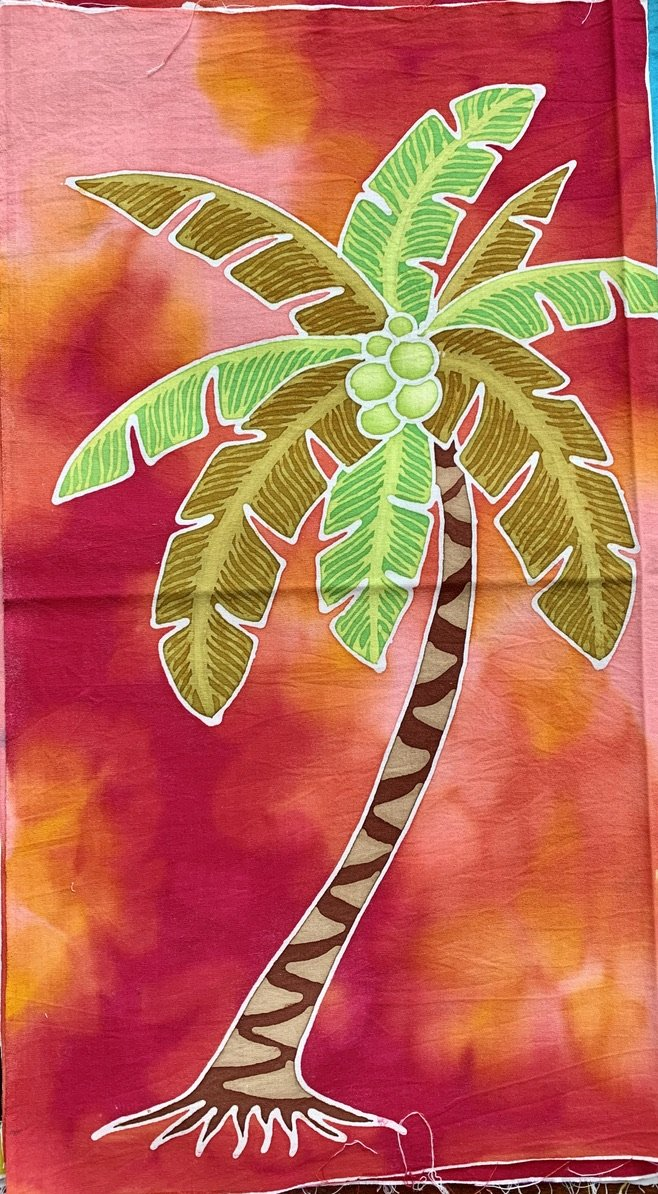 Palm Tree Batik Art Panel P15