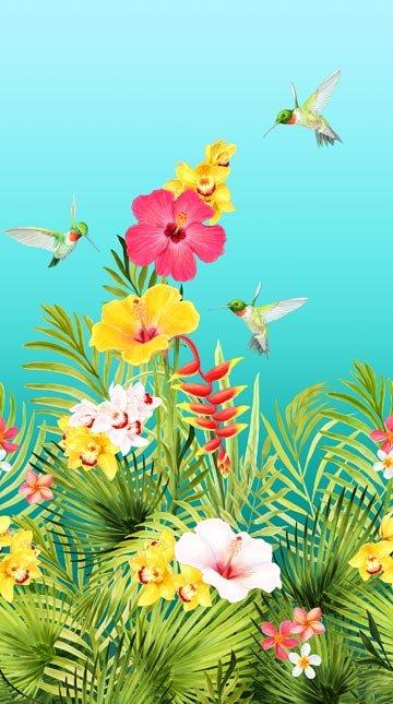 Island Sun Hibiscus Panel