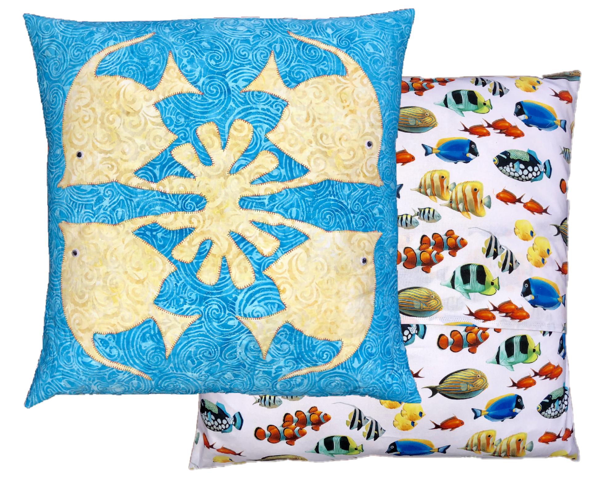 Fish Hawaiian Applique Pillow Kit- Machine