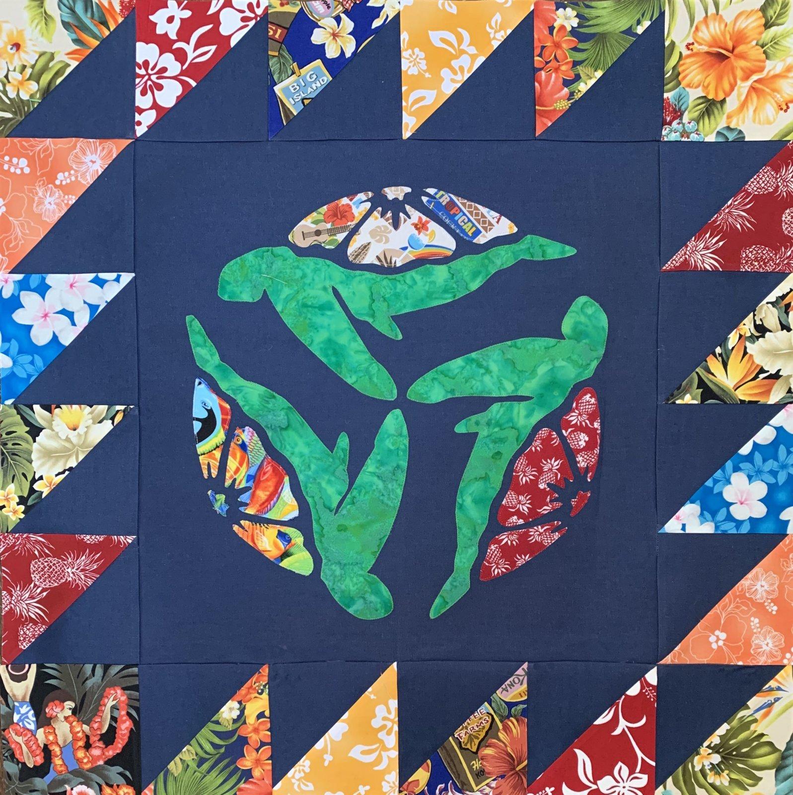 Hawaiian  Honu Quilt Pattern