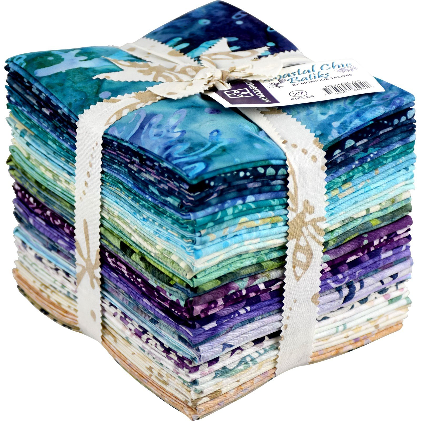 Coastal Chic Batik Fat Quarter Stack -27
