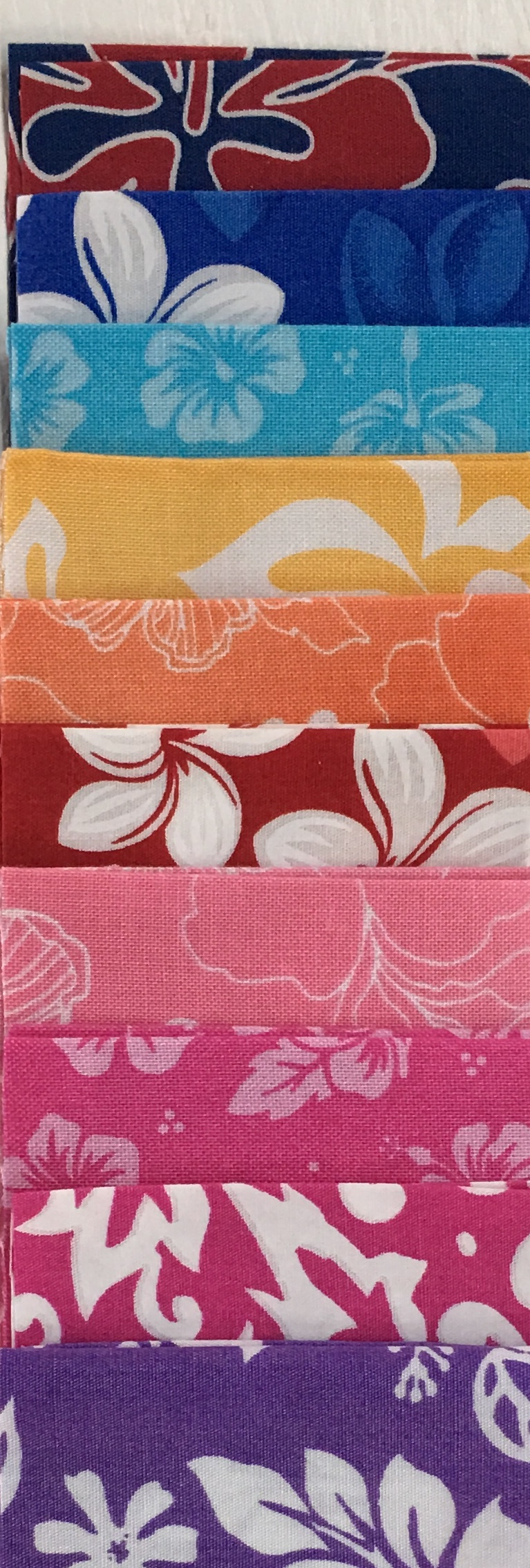 Hawaiian Print Fat Quarter Bundle Brights