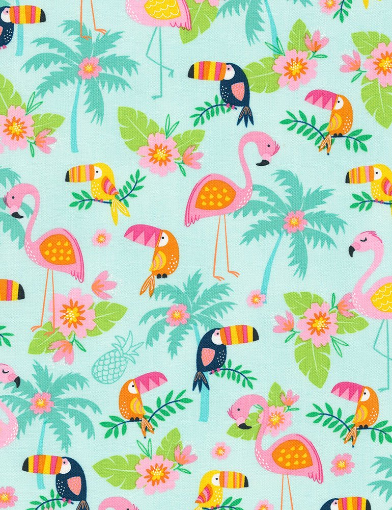 Flamingos and Toucans