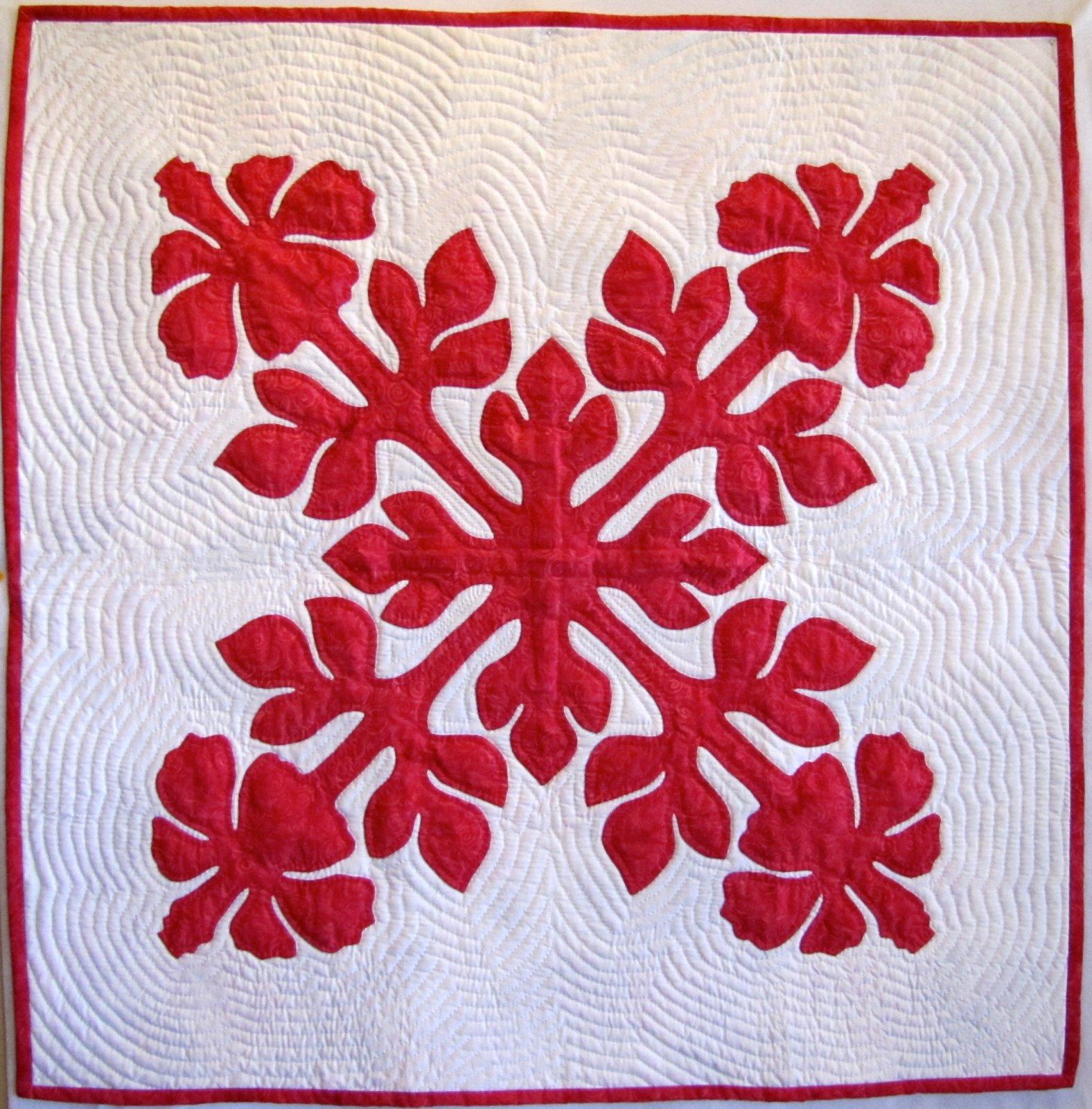 Hibiscus Hawaiian Quilt Fabric Kit 40