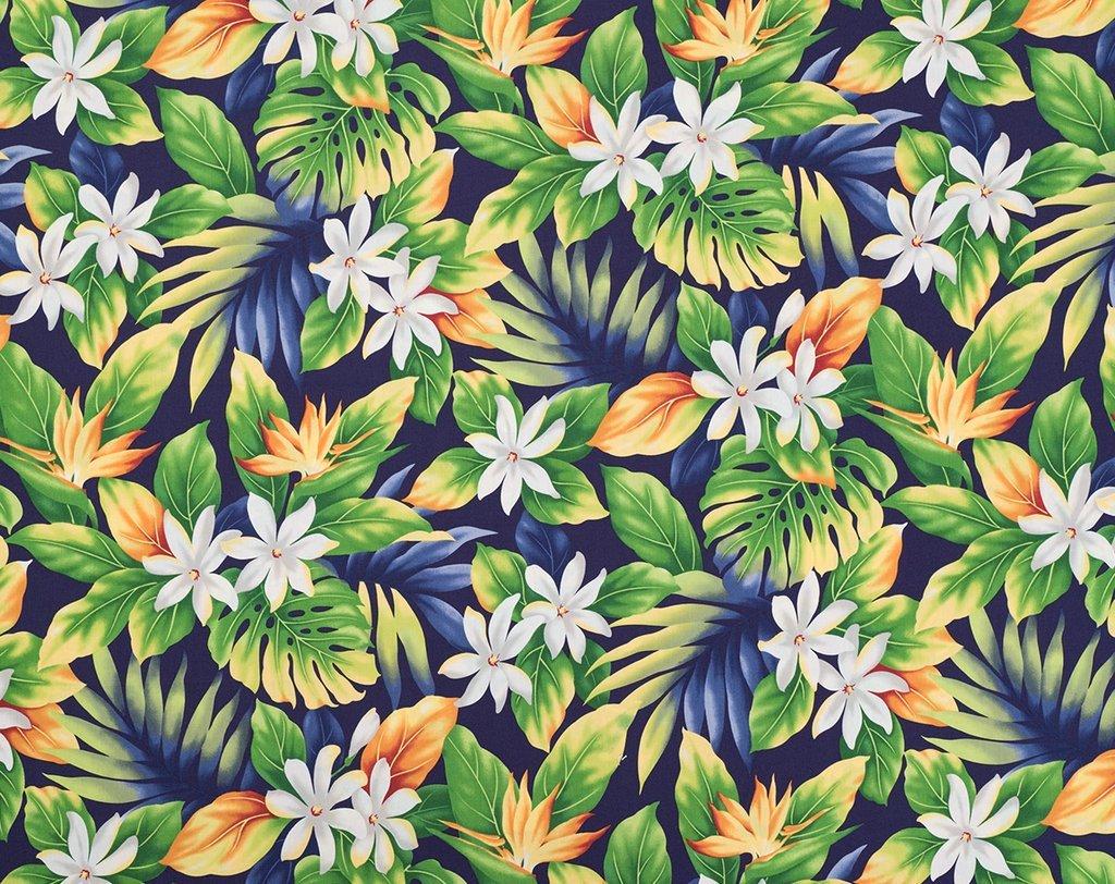 Tiare Floral on Purple Hawaiian Print