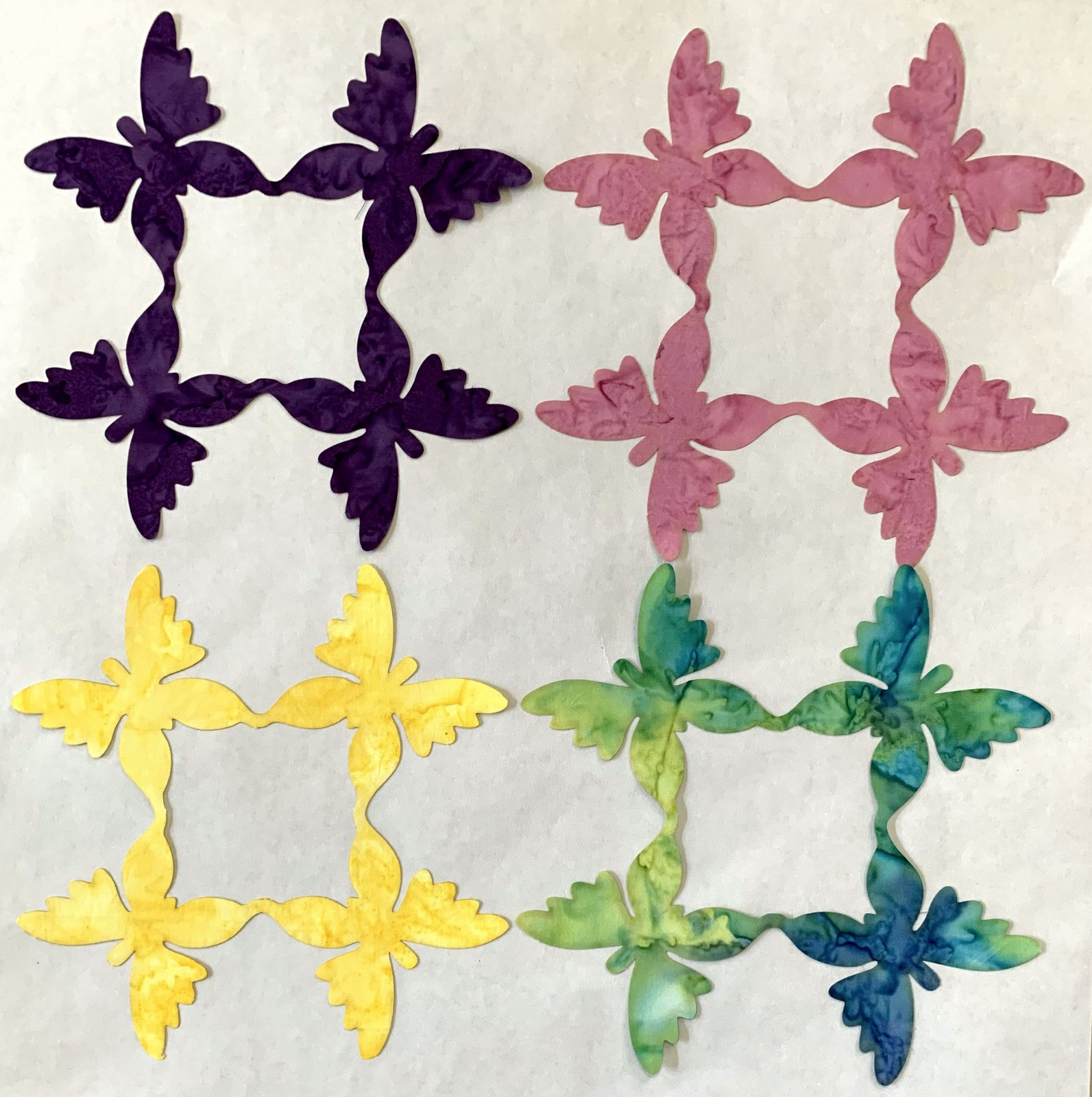Butterflies 8in. Fusible applique pack 4-per