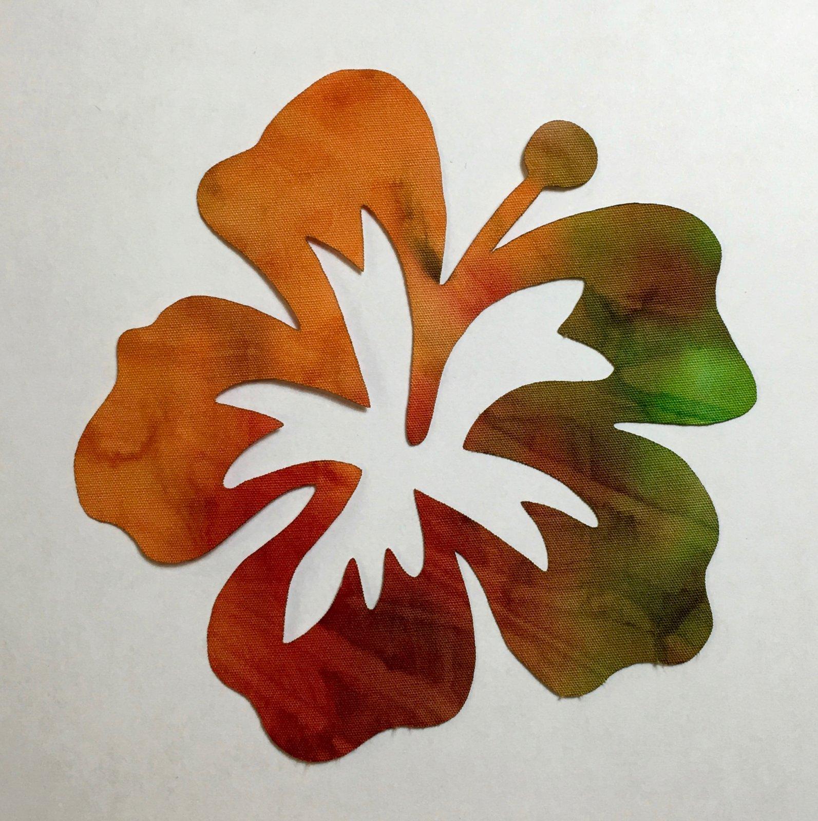 5in. Hibiscus Flower Laser Cut Appliques