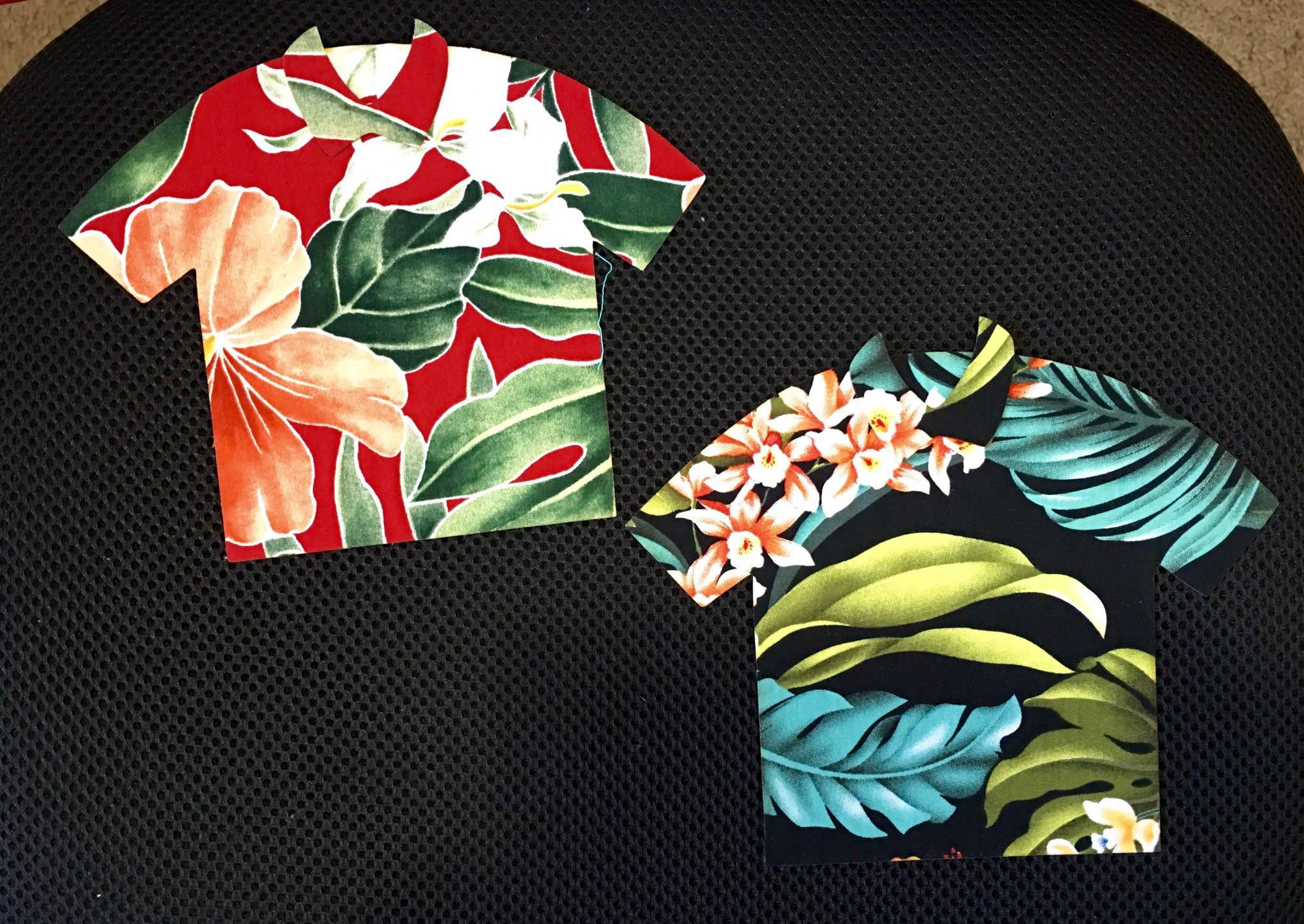 Hawaiian t shirt appliques
