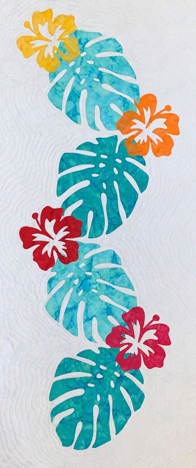 Hibiscus Palms Fusible Applique Kit