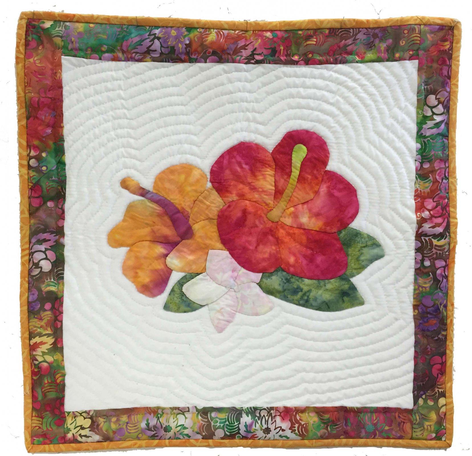 Tropical Bouquet Applique Pattern