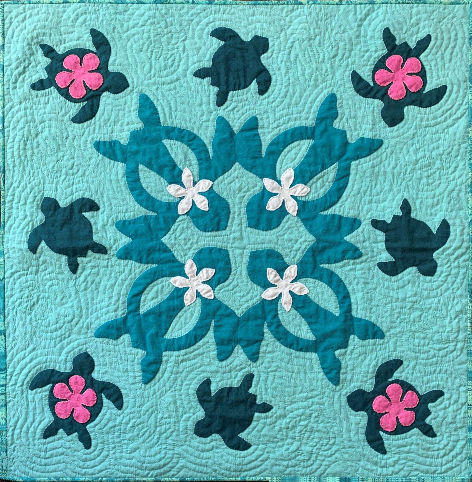 Turtle Bay Hawaiian Quilt Fabric Kit