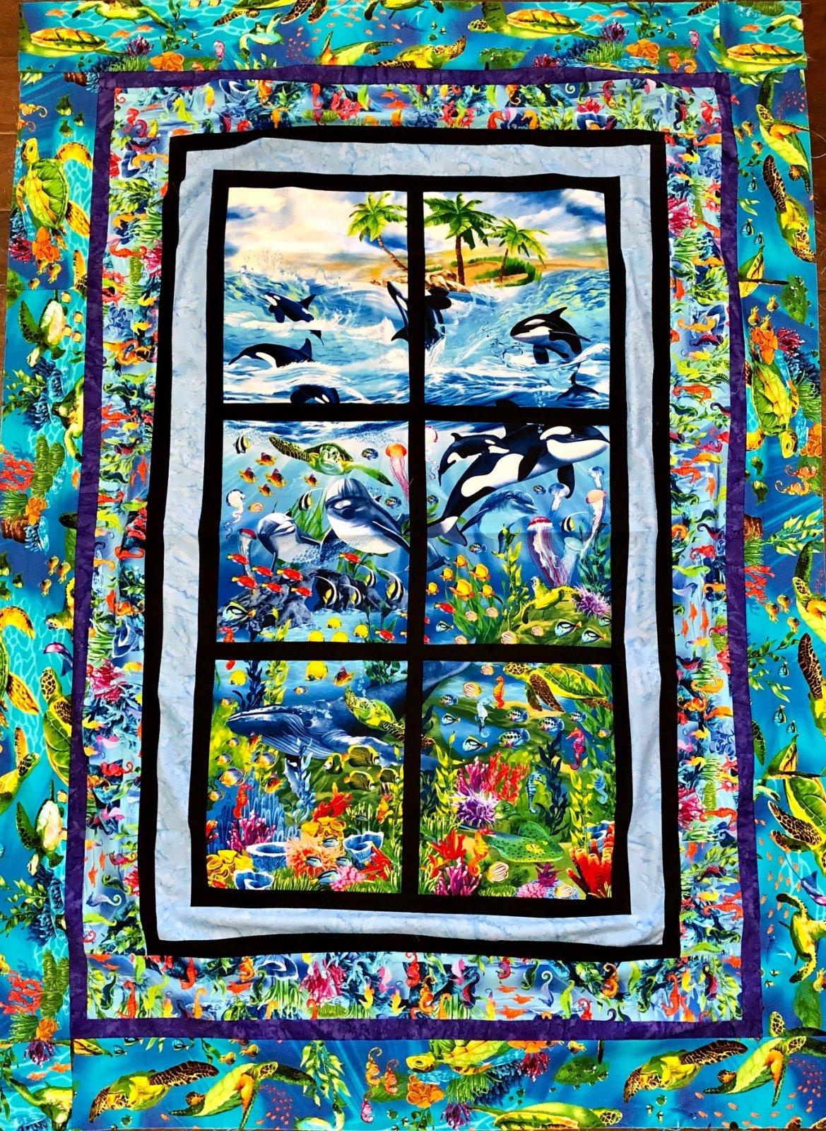 Ocean Reef Panel Quilt Kit