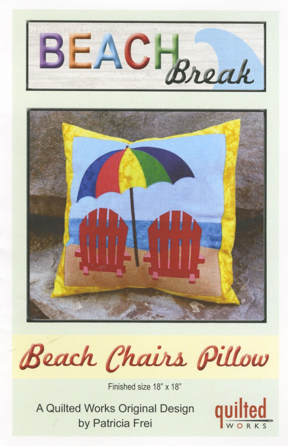 Beach Chairs Quilt Pillow Pattern