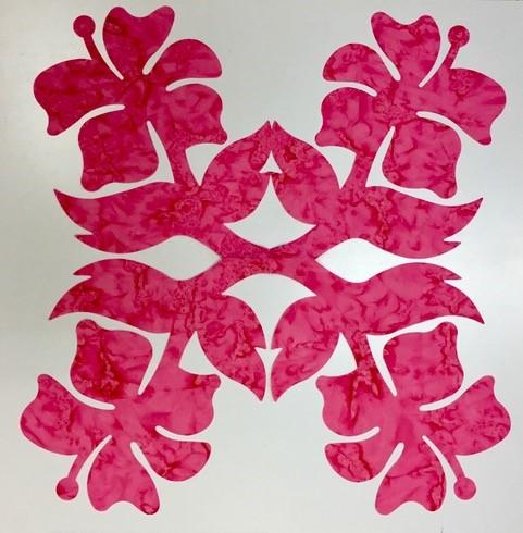 16in. Hibiscus Hawaiian Applique
