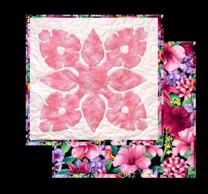 Pua Hibiscus Pillow Kit For Machine Applique