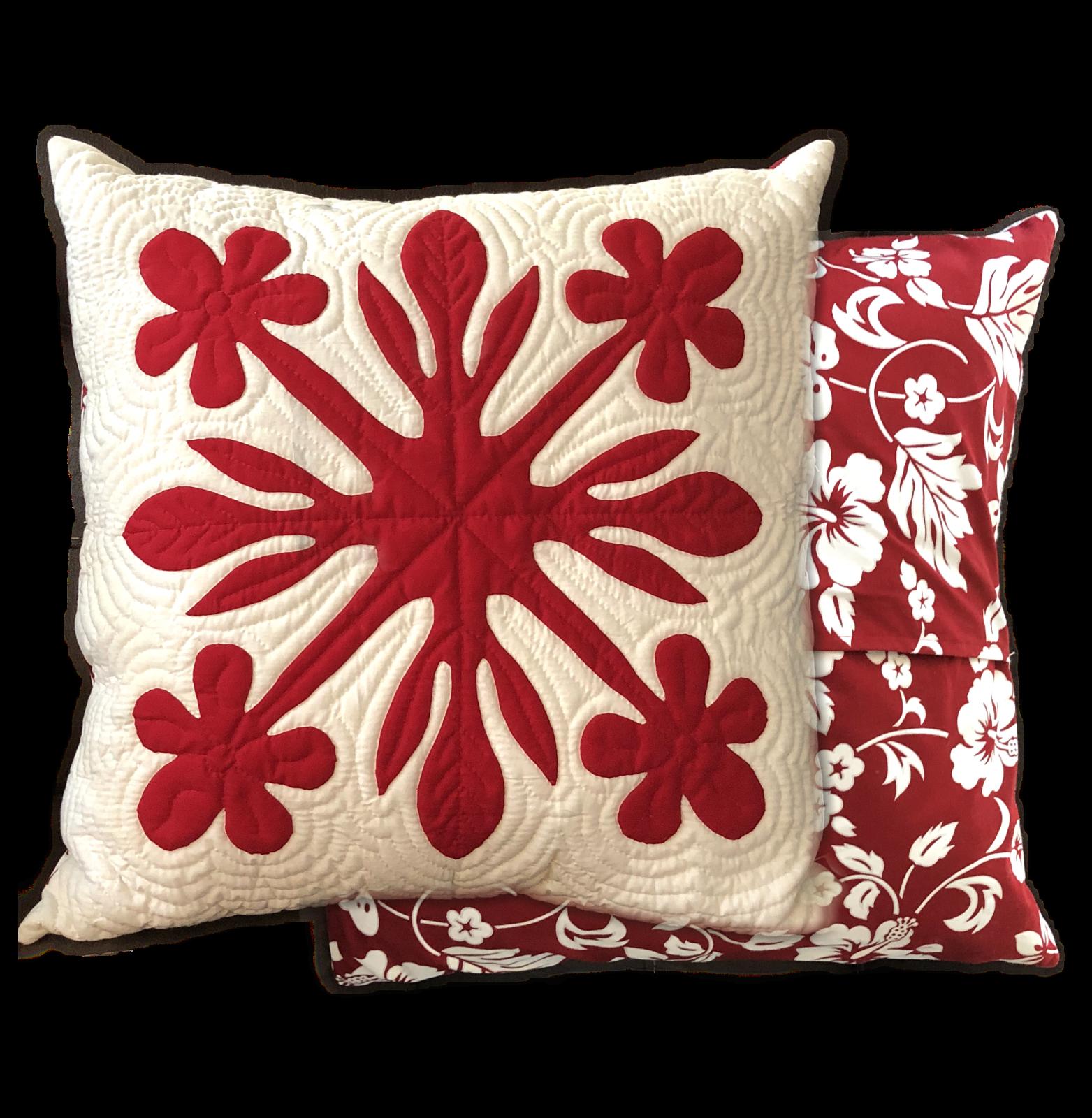 Plumeria Love Fusible Hawaiian Pillow Kit