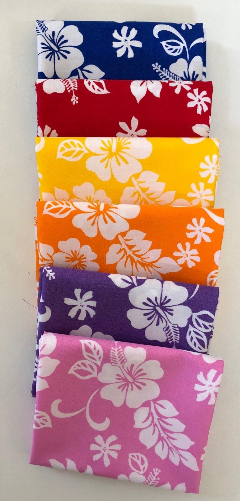Hawaiian Print Fat Quarter Bundle Brights
