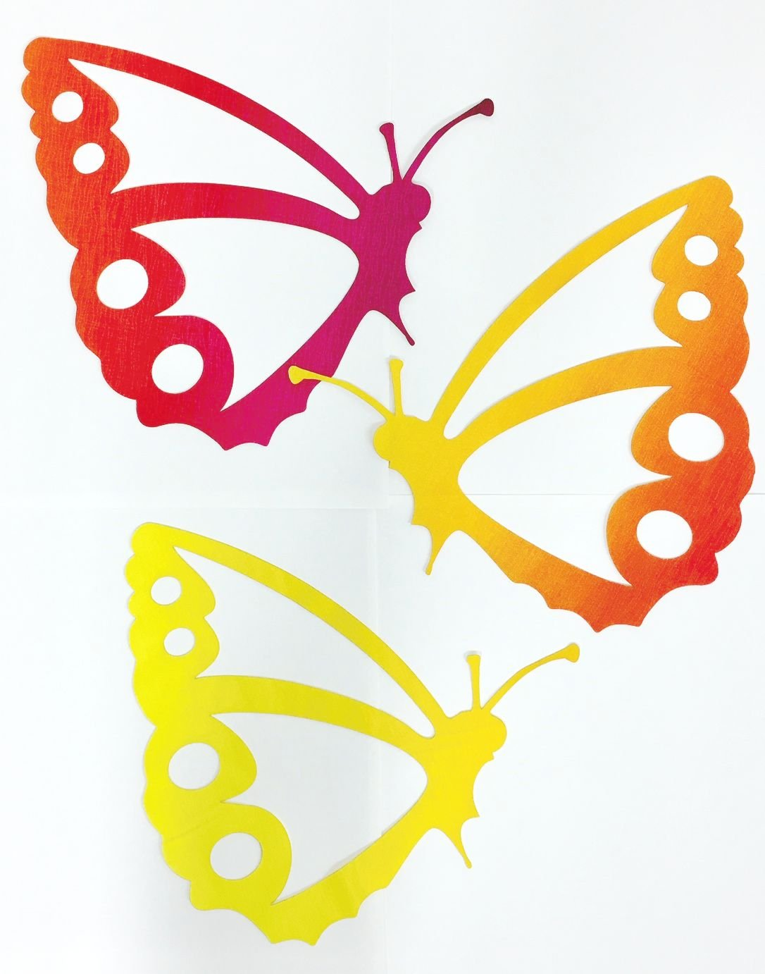 8in. Butterfly Appliques 3 per.