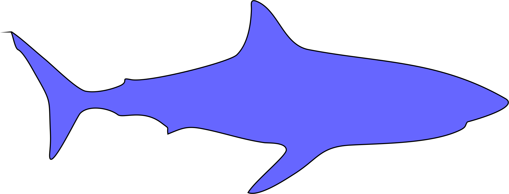 Shark Appliques 6in. 4 per