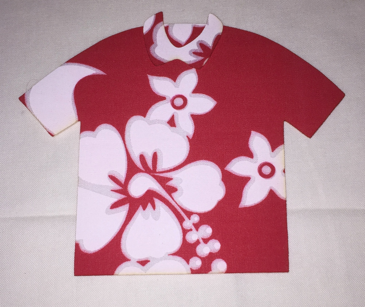 6in. Hawaiian Shirt Laser Cut Appliques.