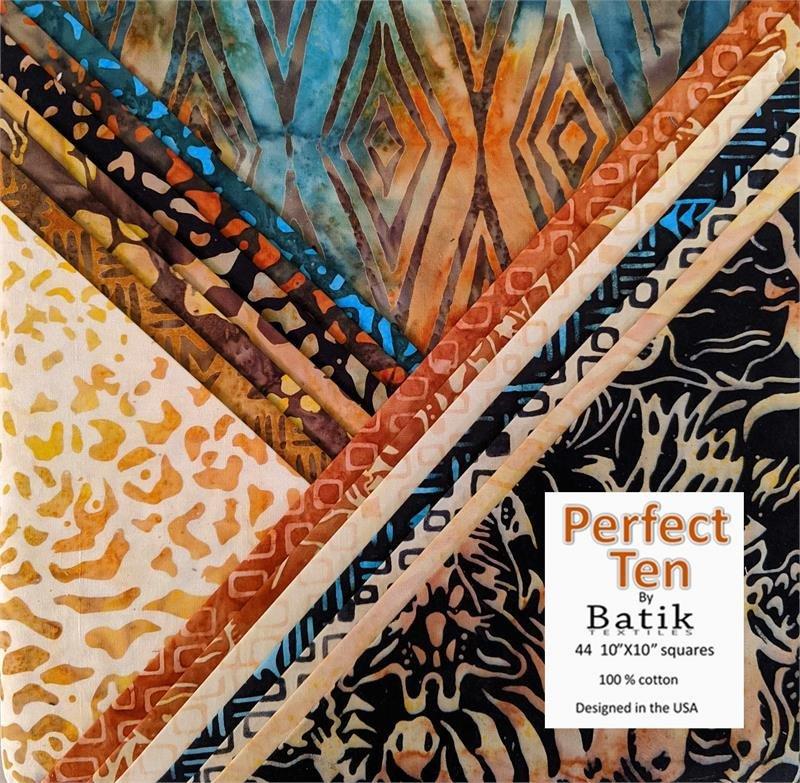 Summer Safari Batiks 10in. squares