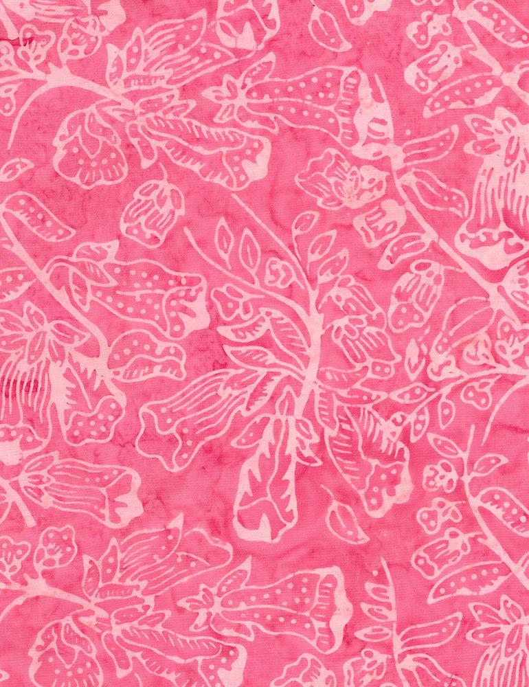 Pink Flower Bloom Batik