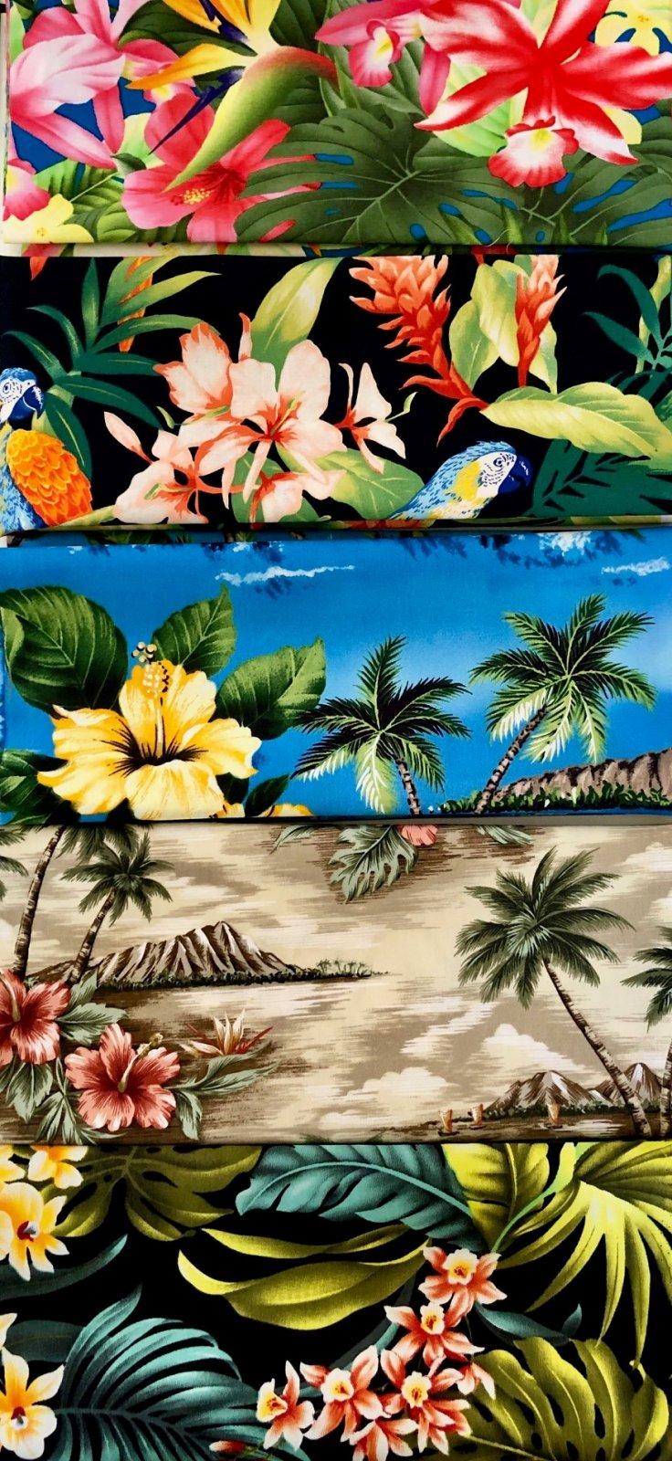 Floral Hawaiian Print Fat Quarter Bundle