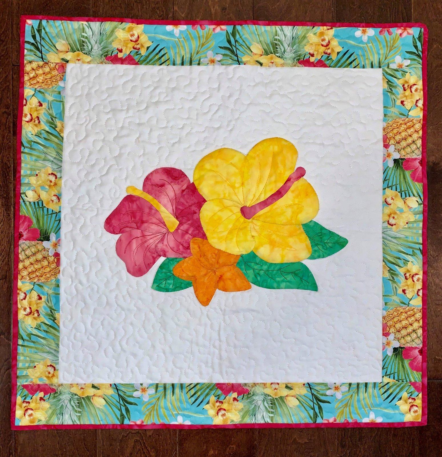 Tropical Bouquet Applique  Quilt Kit