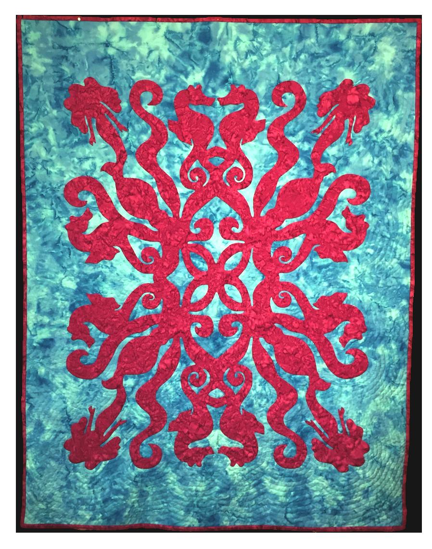 Under the Sea Hawaiian Applique Quilt Pattern