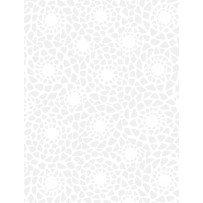 108 Mosaic White-On-White
