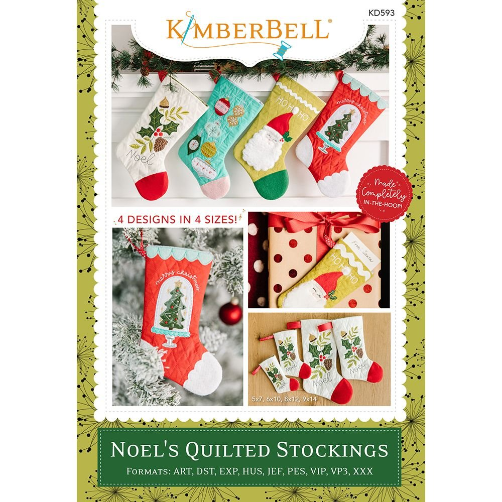 Noel's Quilted Stockings Embroidery CD