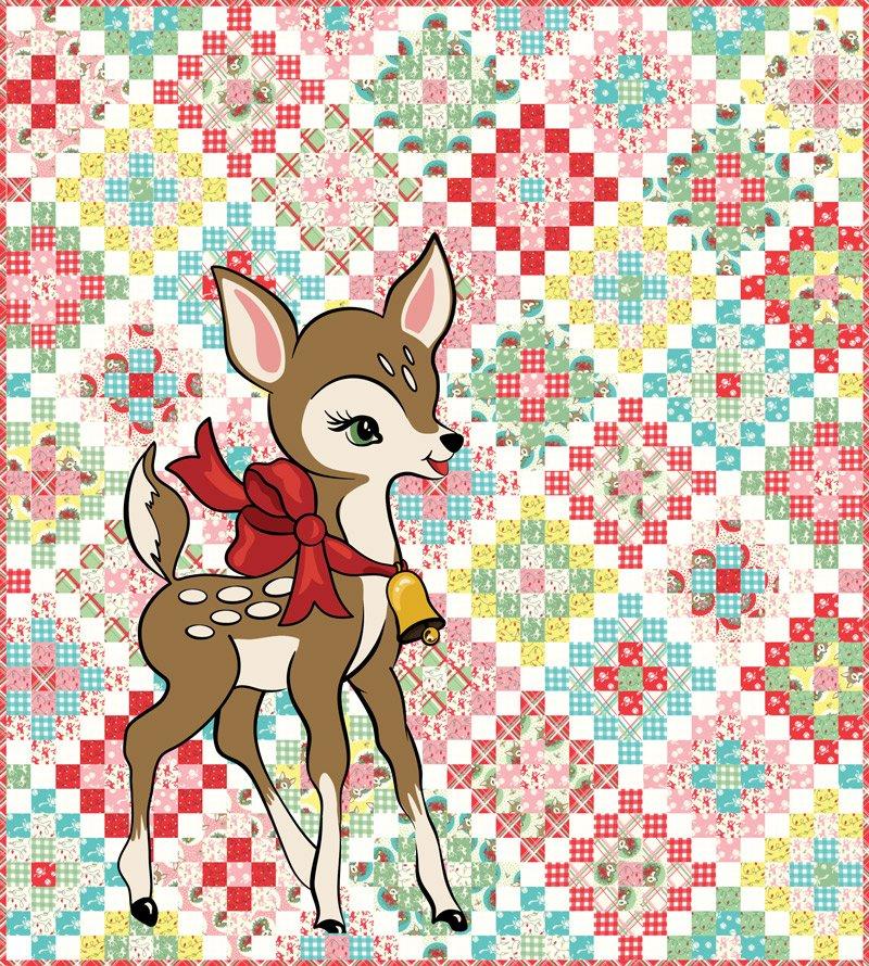 DEER CHRISTMAS Quilt Kit