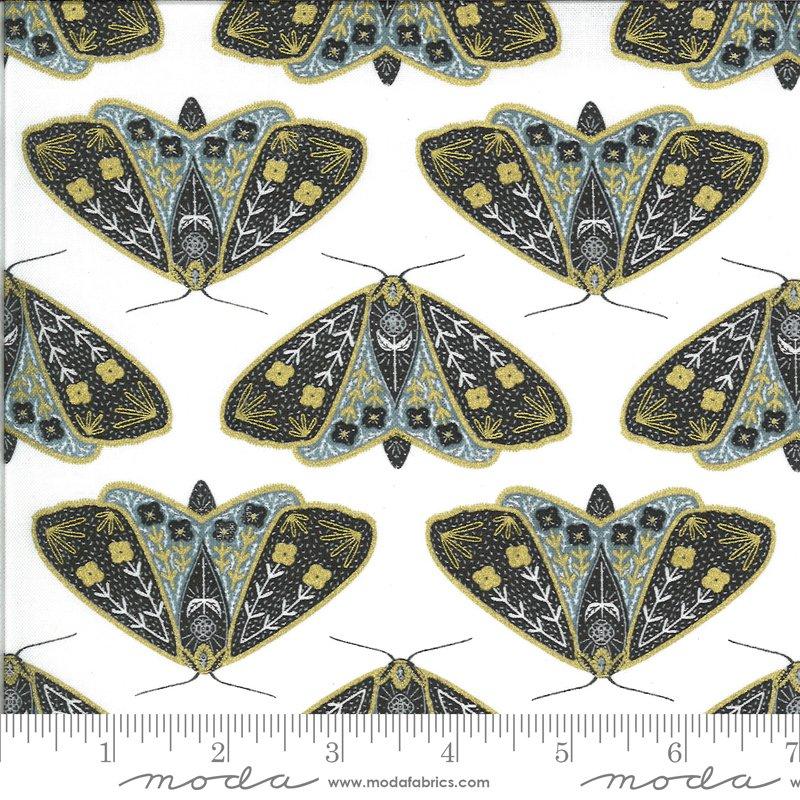Dainty Moths Ivory Sky Metallic